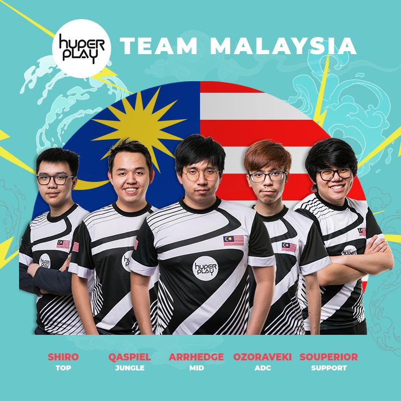 Các thành viên đội tuyển Malaysia tại Hyperplay 2018