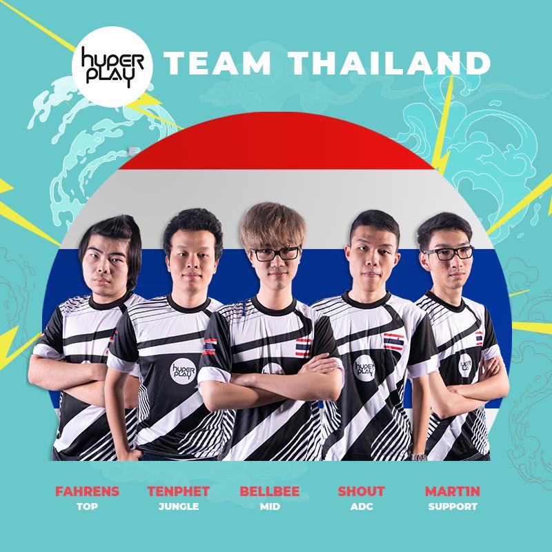 Các thành viên đội tuyển Thái Lan tại Hyperplay 2018
