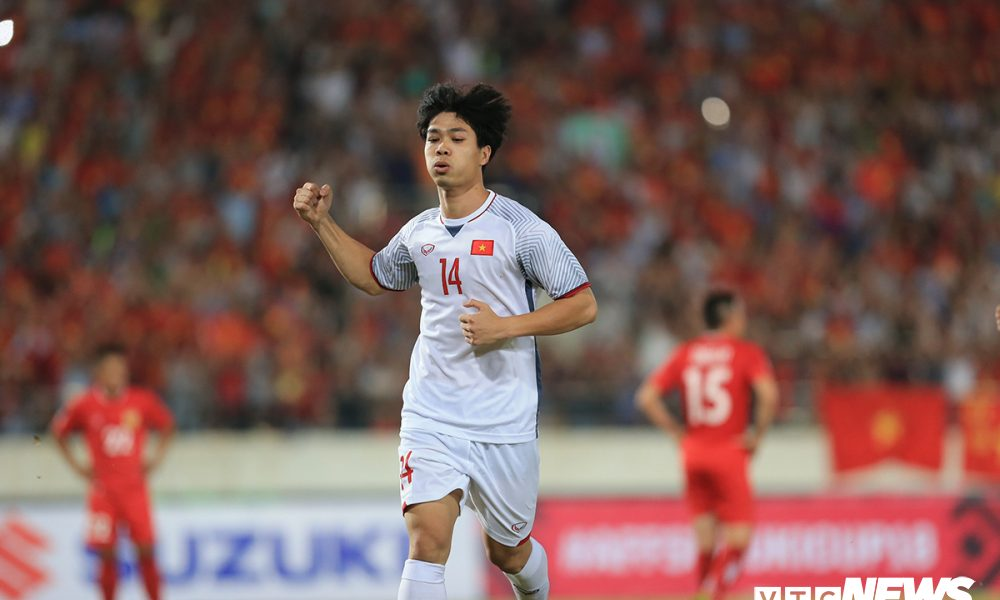 Công Phượng ghi bàn đầu tiên tại AFF Cup 2018
