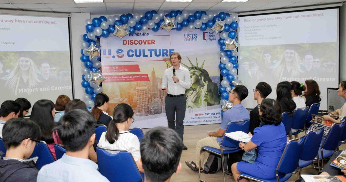Buổi tư vấn du học Mỹ do Usis Education tổ chức