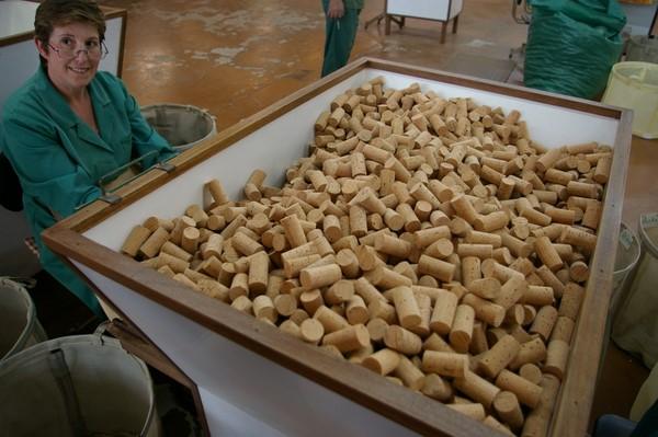 Nút chai được sản xuất ở Bồ Đào Nha