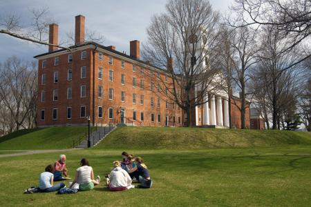 Một góc khuôn viên trường Amherst College in Massachusetts