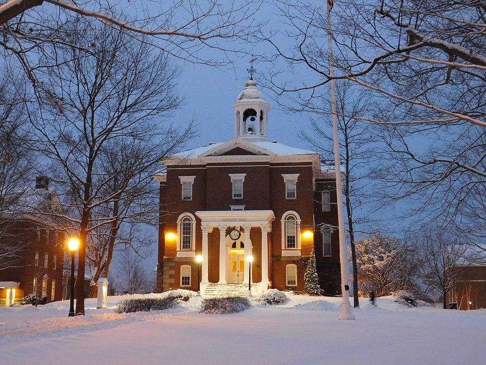 Mùa đông ở Bates College in Maine