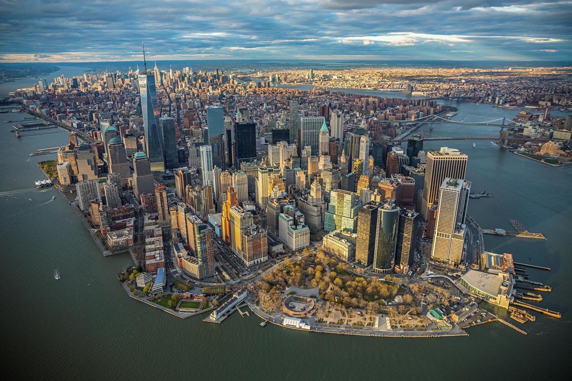 Khung cảnh các tòa cao tầng ở Mỹ nhìn từ trên cao