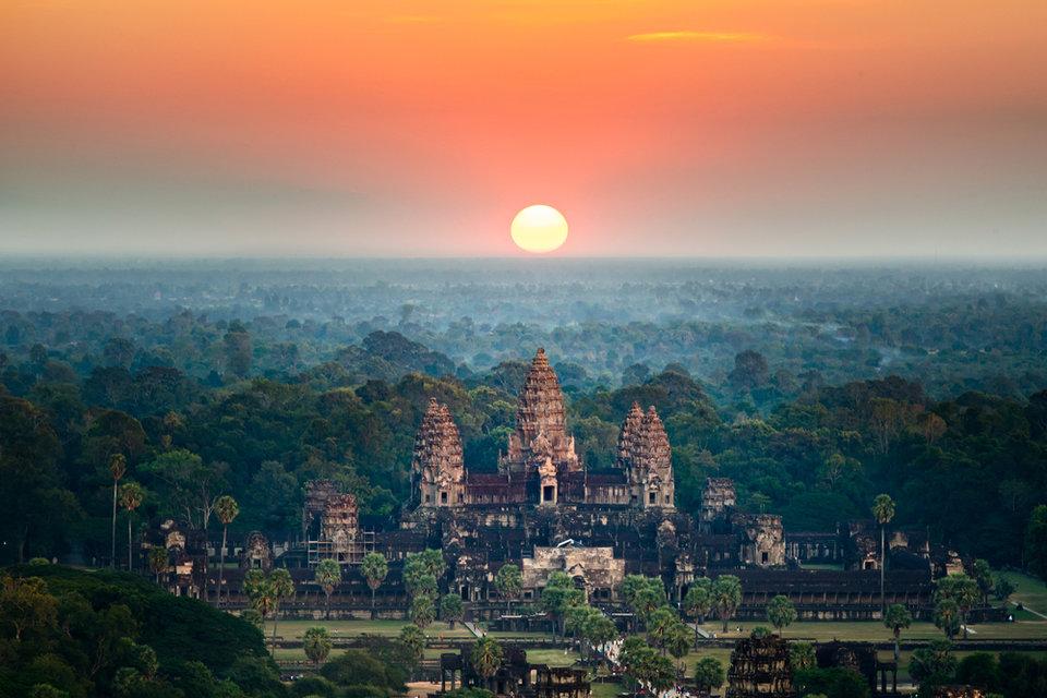 Khu di tích Angkor Wat.