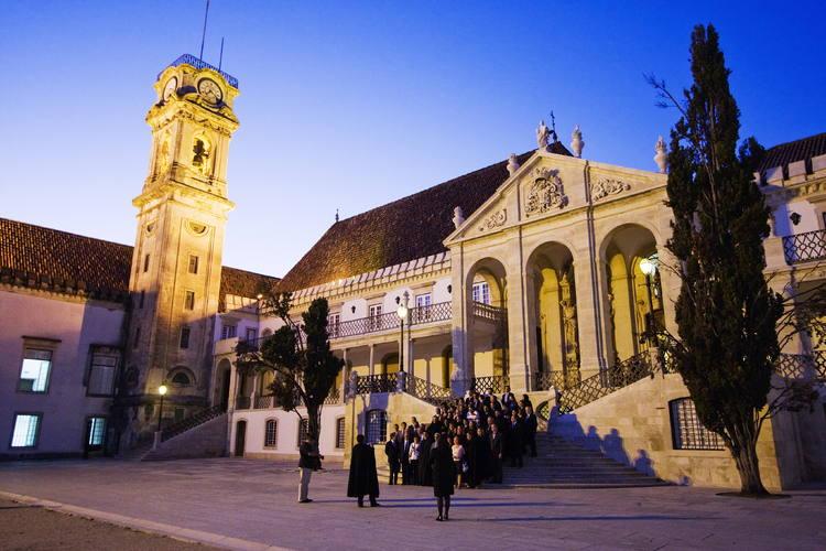 Một góc của Đại học Coimbra
