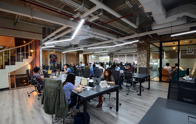 Một văn phòng chia sẻ tại Việt Nam