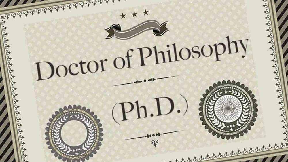 Bằng tiến sĩ ngành triết học ở Mỹ