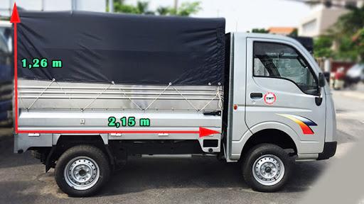 Kích thước thùng xe rất quan trọng trong vận chuyển