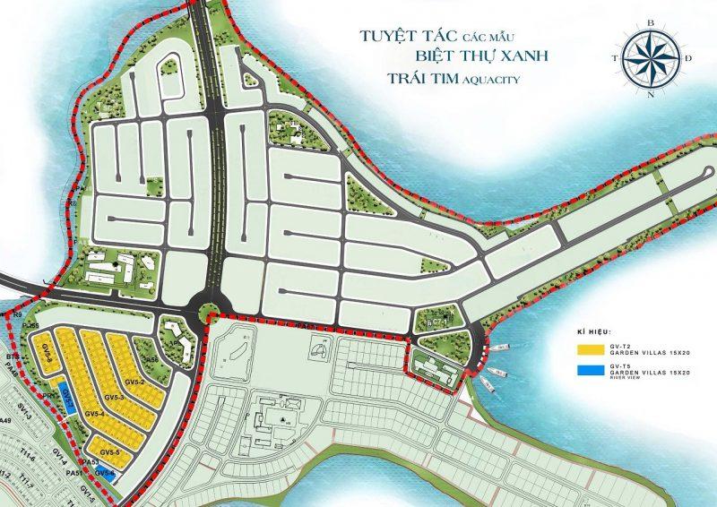 sơ đồ khu đô thị sinh thái aqua city