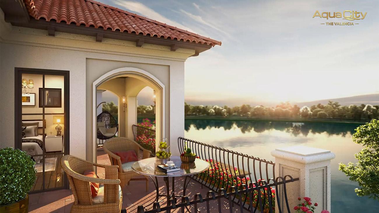 view của biệt thự gần sông