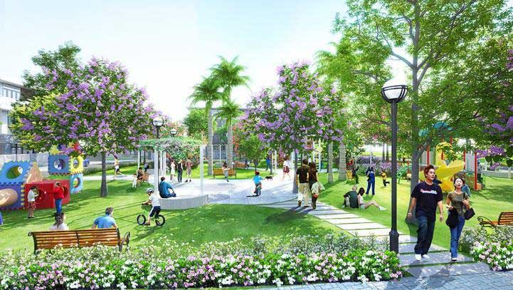 vườn cây tại khu đô thị sinh thái