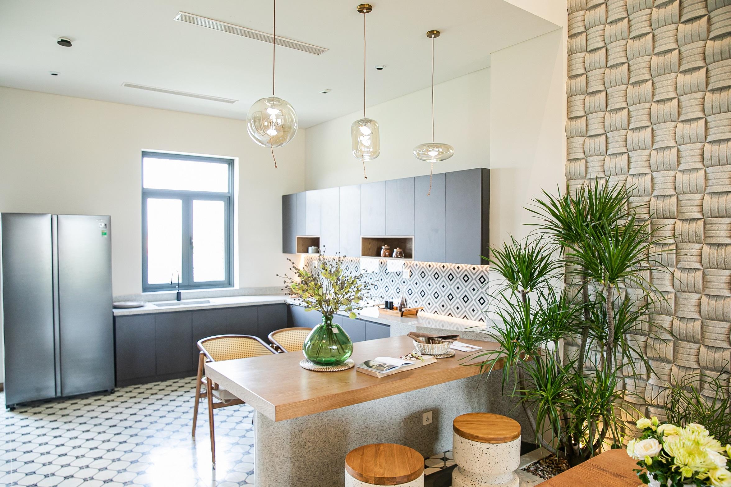 nhà bếp cây xanh