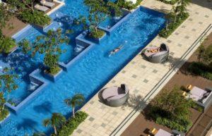 Bể bơi ngoài trời có kích thước rộng nhất ở Nha Trang.