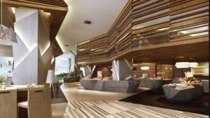 Thiết kế độc đáo, sử dụng tone màu gỗ làm chủ đạo