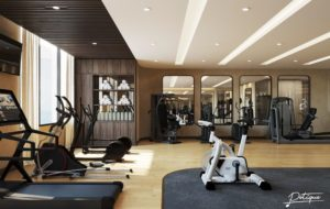 Trung Tâm Gym & Fitness tại Potique Hotel với hệ thống các trang thiết bị vận hành tập luyện được thiết kế theo tiêu chuẩn Châu Âu
