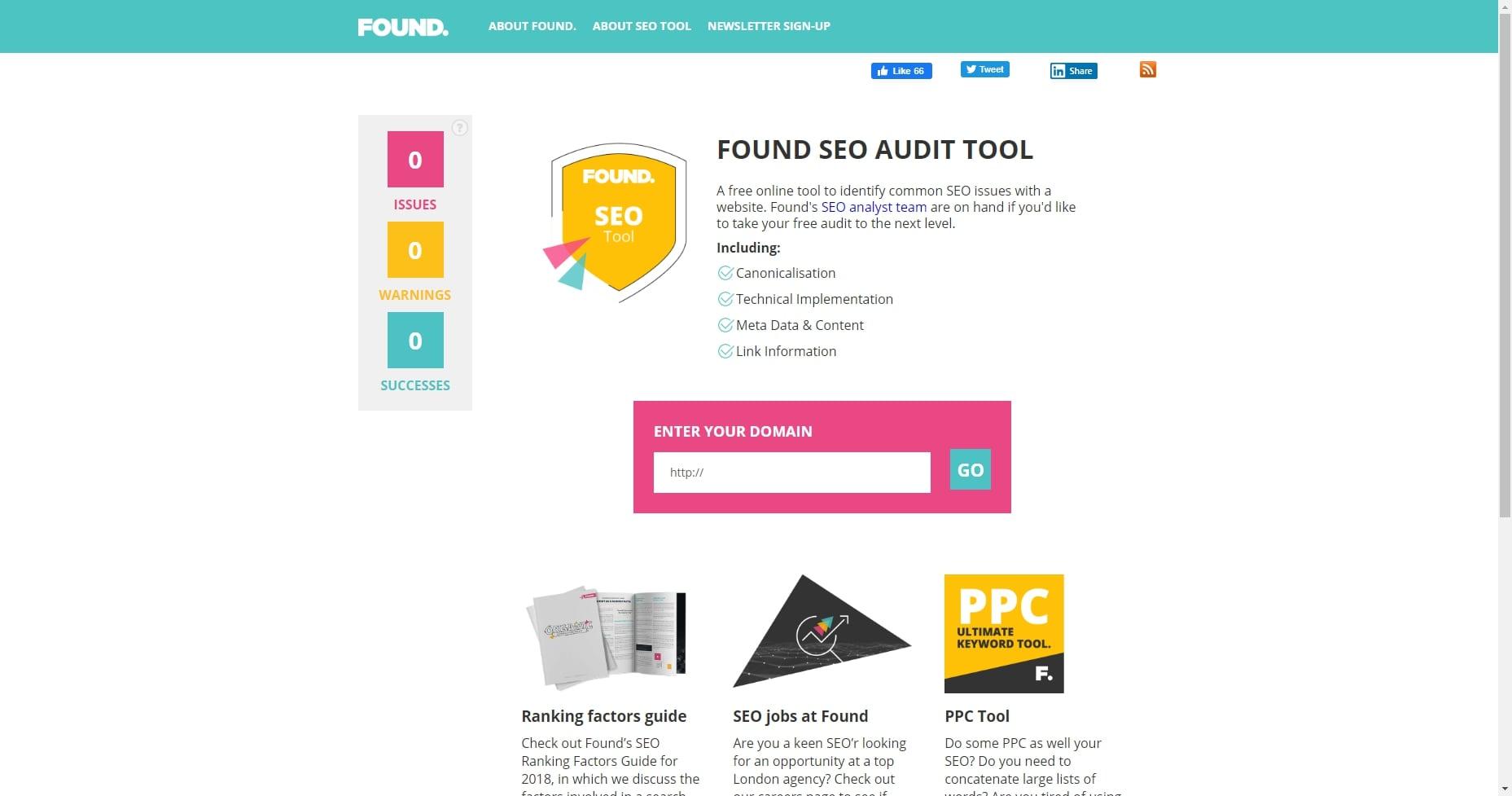 Found SEO Audit Tool